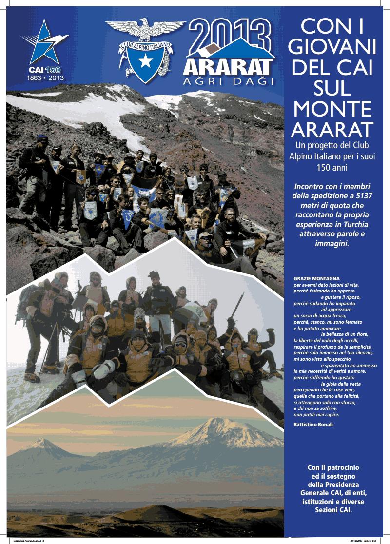 """""""Con i giovani del CAI sul Monte Ararat"""""""