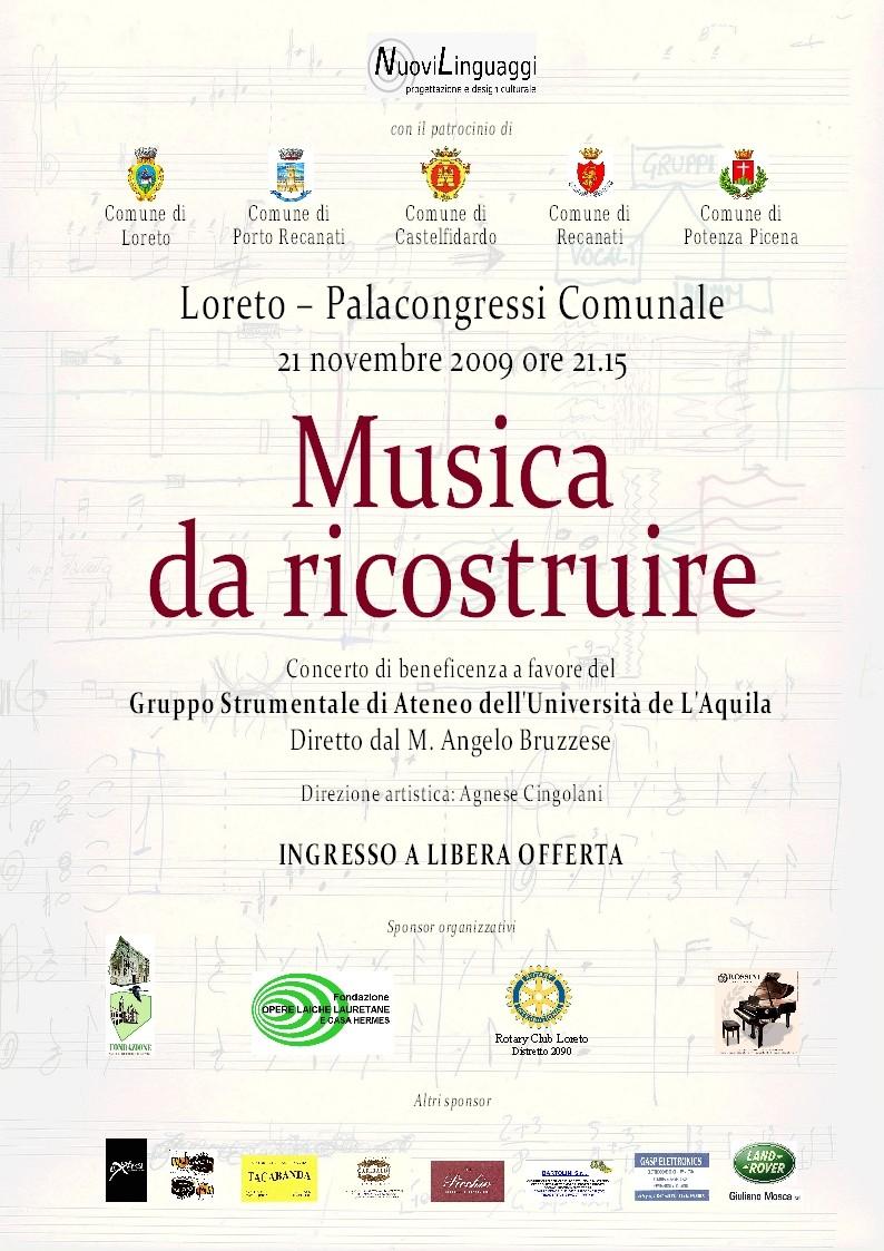 """""""Evento per l'Aquila - Musica da ricostruire"""""""