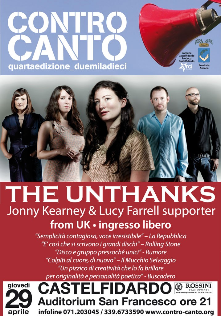 """THE UNTHANKS Jonny Kearney & Lucy Farrell supporter"" in concerto"