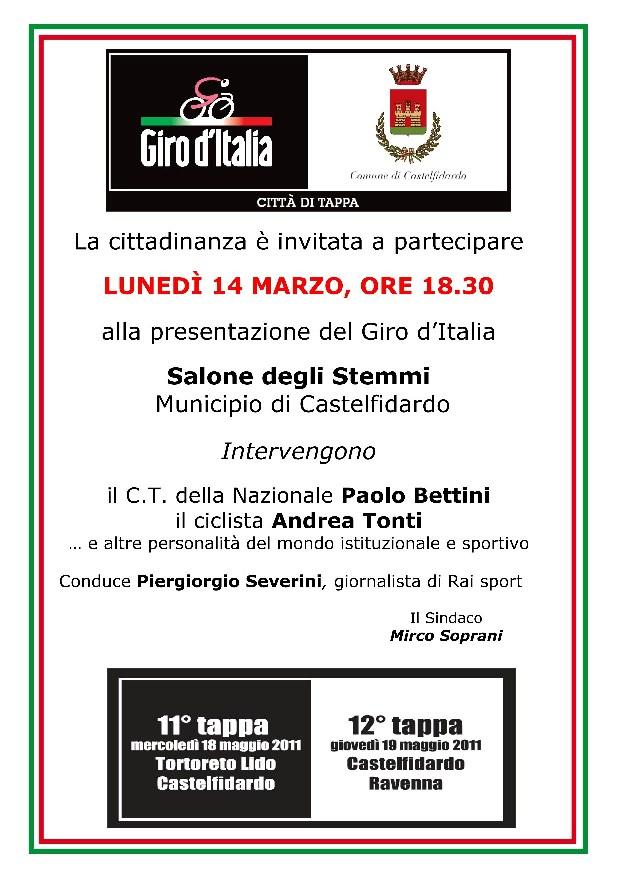 Presentazione Tappe del 94° Giro d`Italia