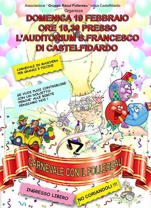 Carnevale con il Follereau