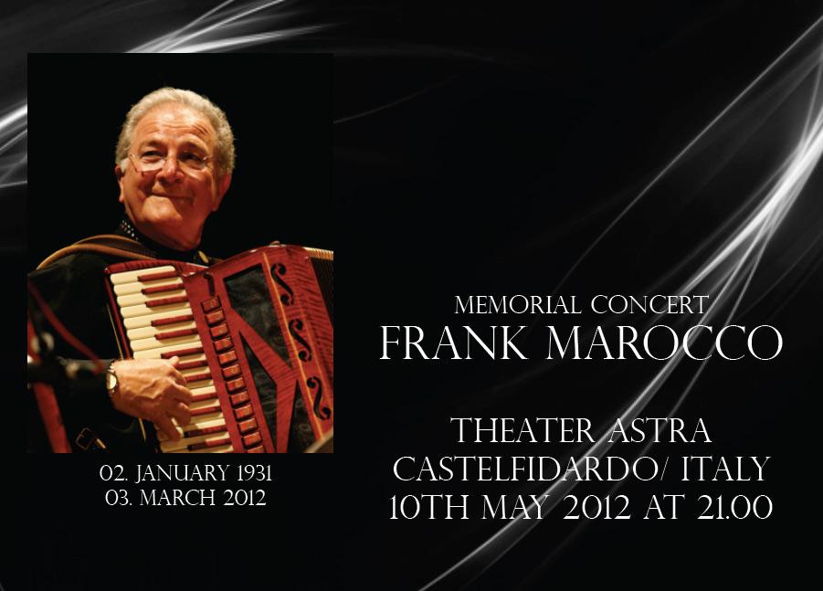 Memorial concert Frank Marocco