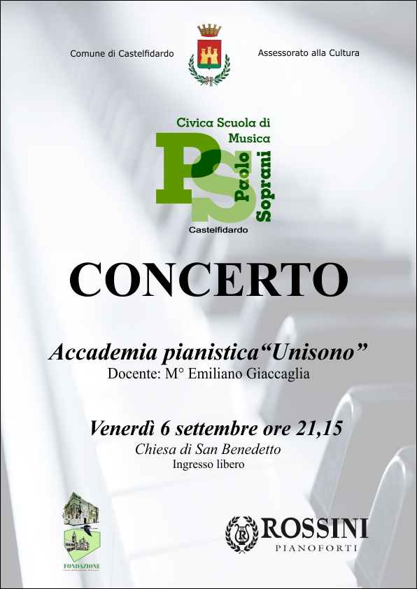 """Concerto dell`Accademia pianistica """"Unisono"""""""