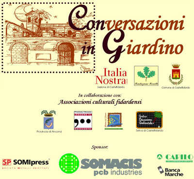 Conversazioni in giardino a Palazzo Mordini