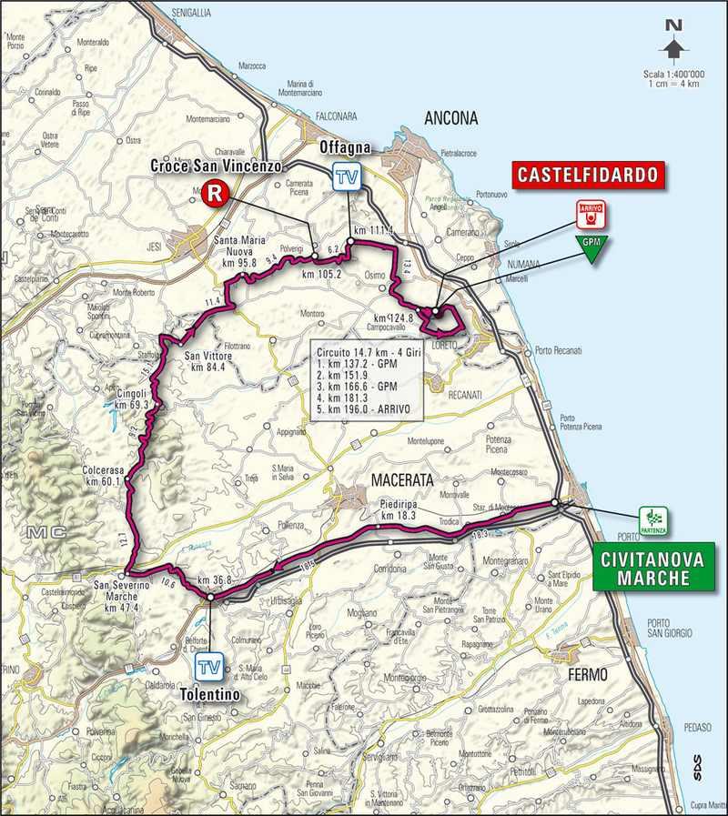 Tirreno-Adriatico, Castelfidardo si prepara