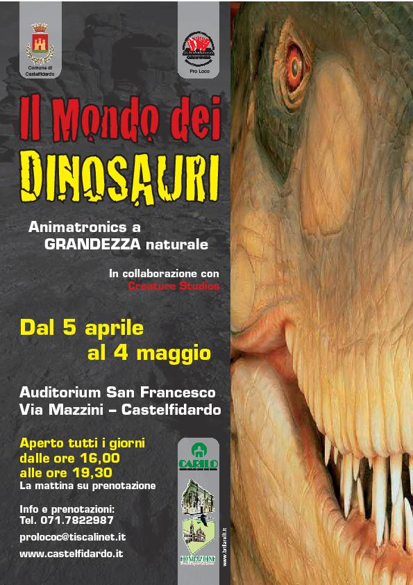 """Il mondo dei dinosauri"", mostra-evento all'Auditorium"