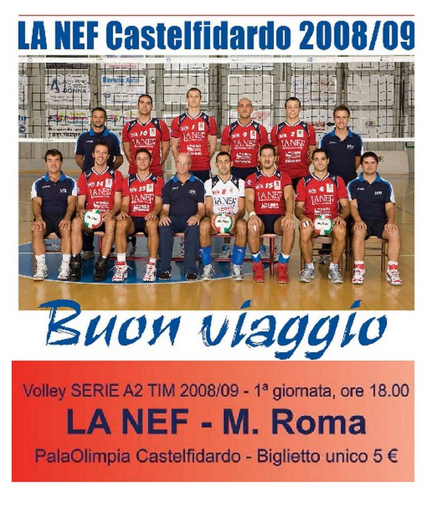 Volley, serie A2 : La Nef domenica con Roma