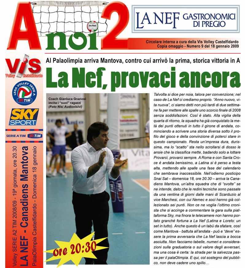 La Nef, domenica match importantissimo con Mantova