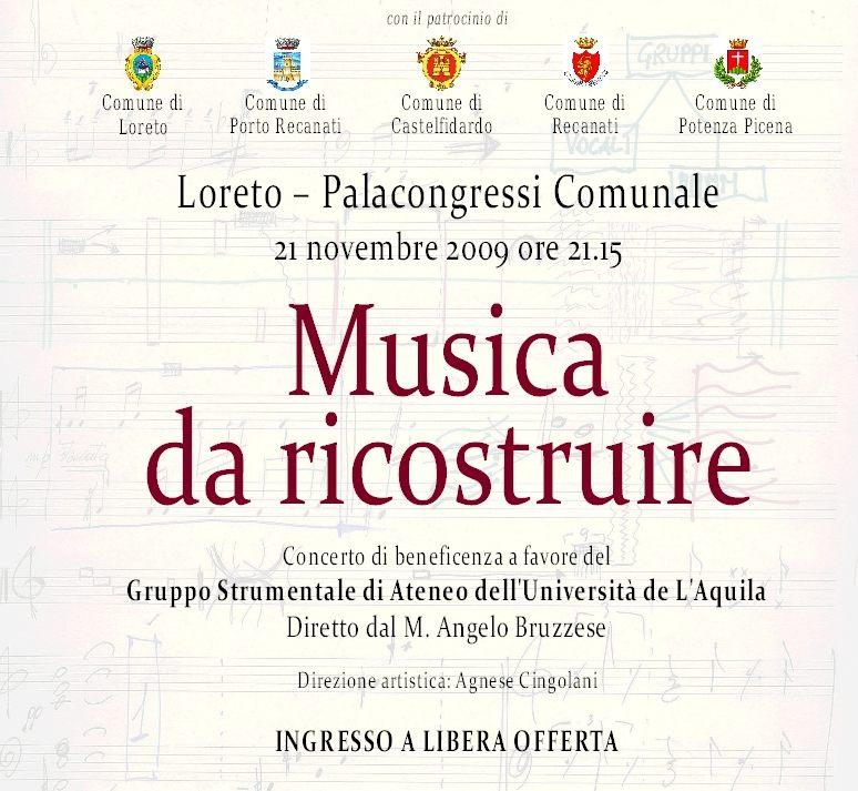 """Concerto di beneficenza """"Musica da ricostruire"""""""