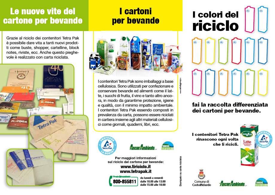 La novità: si ricicla anche il tetrapak