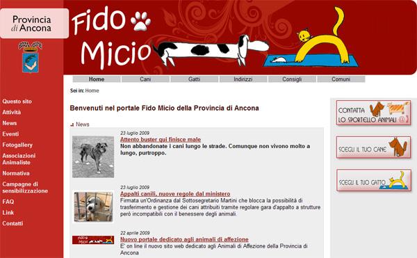 Fidomicio -Nuovo sito dedicato agli animali d'affezione