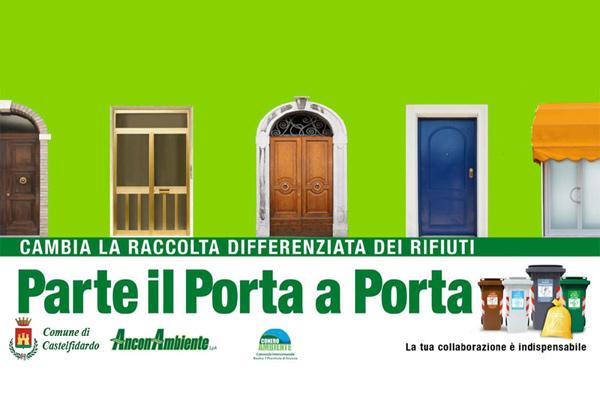 """Raccolta differenziata rifiuti:parte il """"porta a porta"""""""