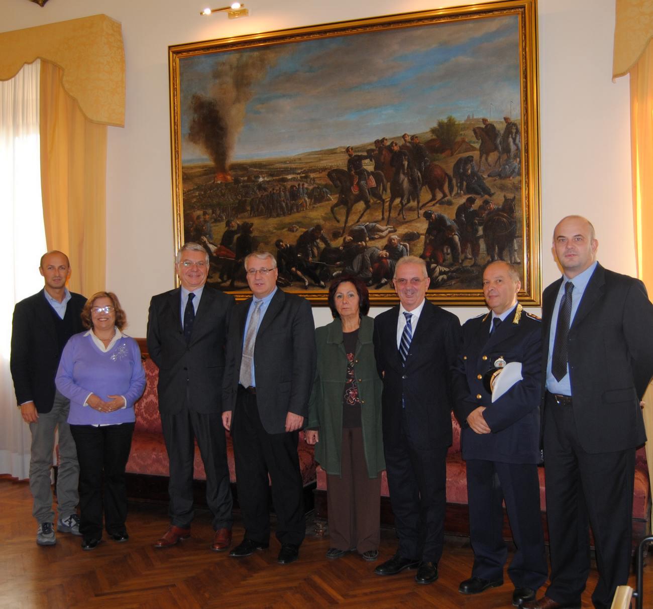 Il questore De Felice in visita a Castelfidardo