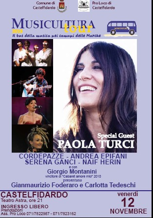Musicultura, Paola Turci venerdì 12 all`Astra