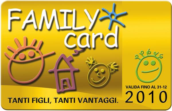Family Card 2011 per le famiglie numerose