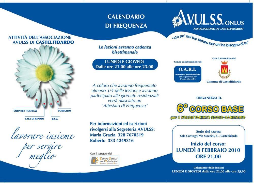 Avulss, corso base per il volontariato socio-sanitario