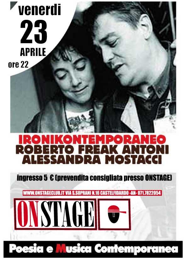 Ironikontemporaneo con Freak Antoni all'On Stage