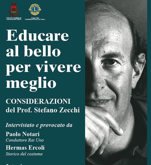 """""""Educare al bello per vivere meglio"""", col prof Zecchi"""