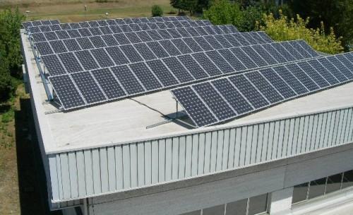Impianto solare termico al palasport