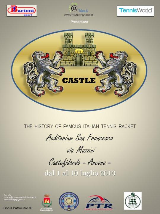 Castle, the history of famous italian tennis racket