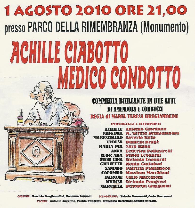 Achille Ciabotto medico condotto, commedia pro-Anffas