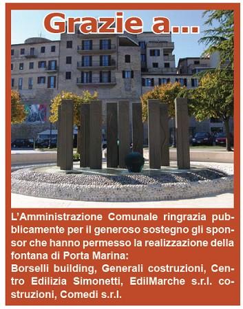 Fontana di Porta Marina, ecco gli sponsor
