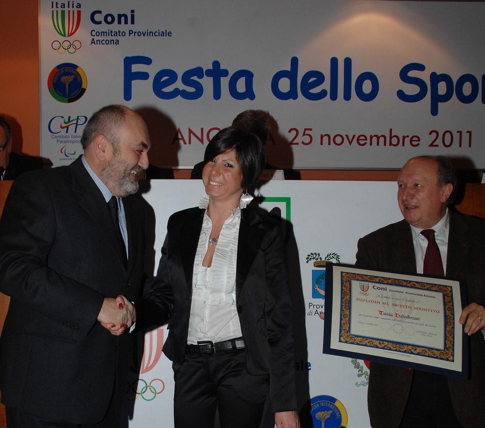 Tania Belvederesi e Leo Isolani premiati dal Coni