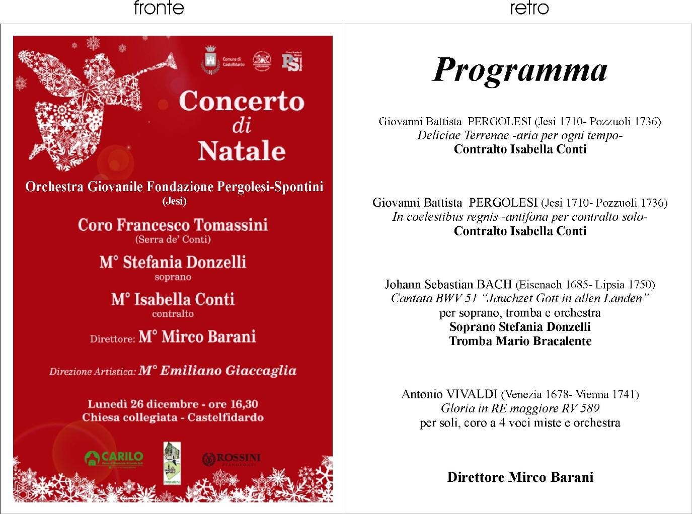 Concerto di Natale con la civica scuola di musica