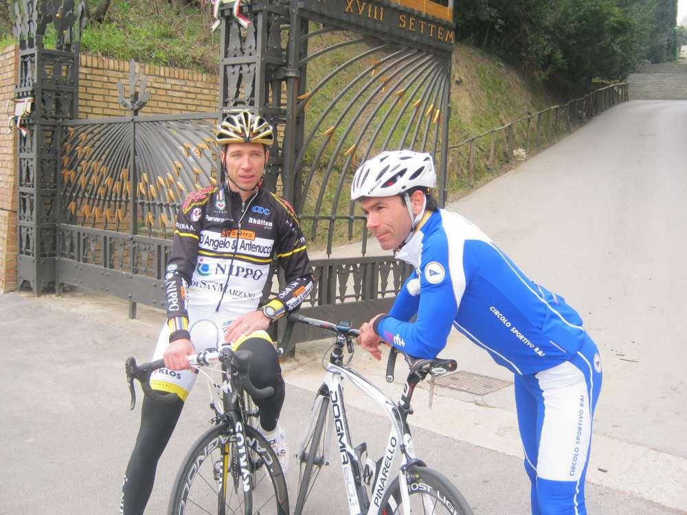 Cassani e Tonti, ricognizione sul percorso del Giro