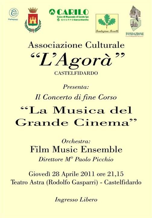 L`Agorà, concerto di fine corso con musiche da film