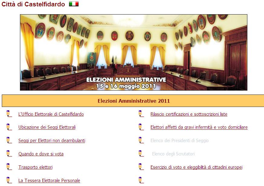 Speciale elezioni amministrative sul web