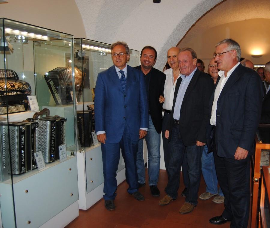 Il presidente Spacca al Museo della fisarmonica
