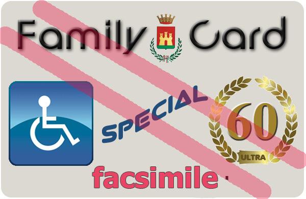 Family card anche per ultra 60enni e diversamente abili