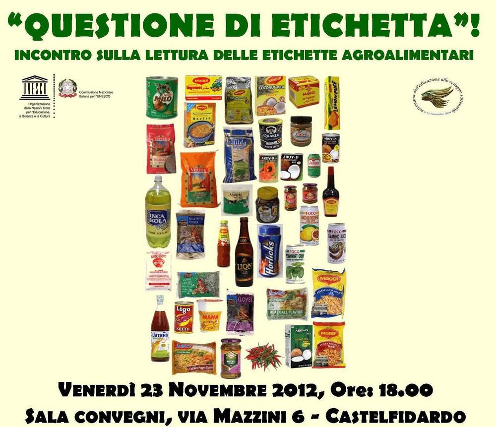 """""""Questione di etichette"""" venerdì in sala convegni"""