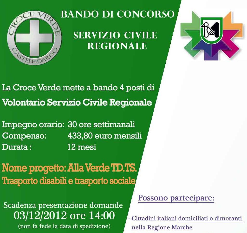 Servizio civile in Croce Verde, domande fino al 3 /12