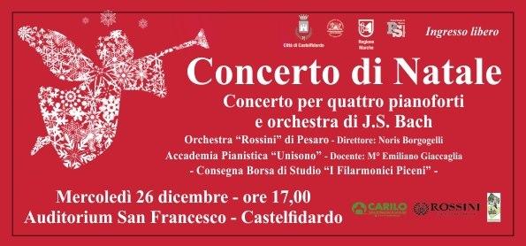 Concerto di Natale con l`accademia Pianistica Unisono