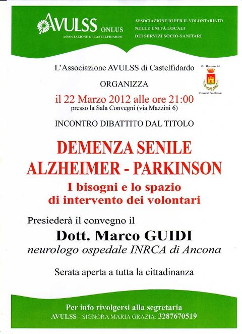 Avulss, incontro – dibattito sulle demenze senili