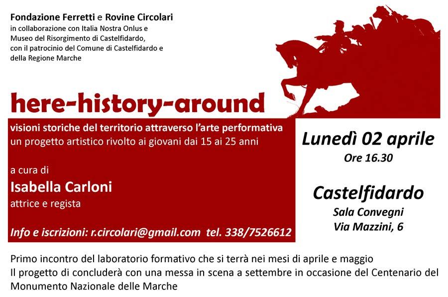 Here history around con Isabella Carloni