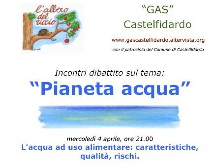 G.A.S. Albero del Riccio, tre incontri sull`acqua