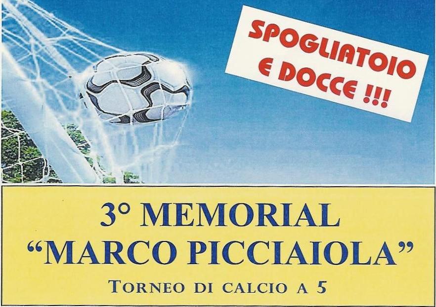 "Terzo Memorial ""Marco Picciaiola"" di calcio a cinque"