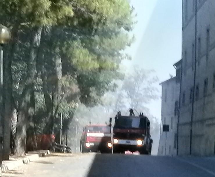 Incendio, chiusa via Roma e limitrofe