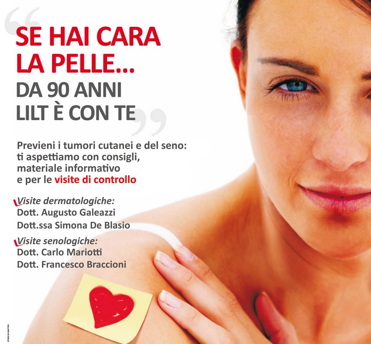"""""""Se hai cara la pelle"""", prevenzione con la Lilt"""