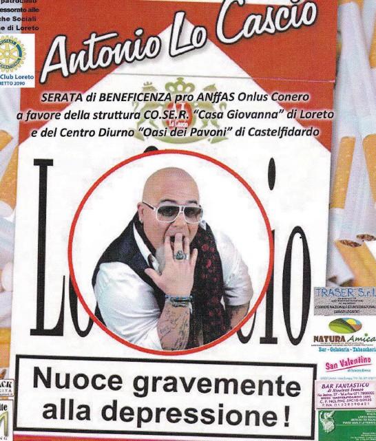 Antonio Lo Cascio, spettacolo pro Anffas a Loreto