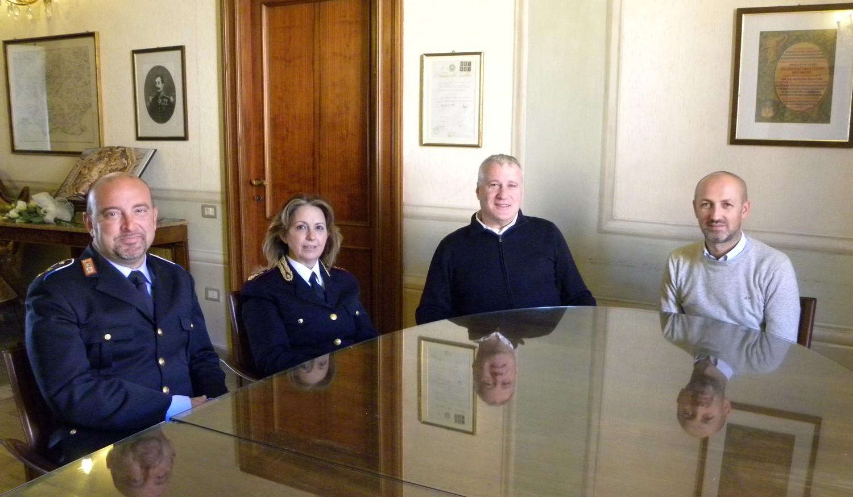Visita ufficiale del vice-questore Pangrazi