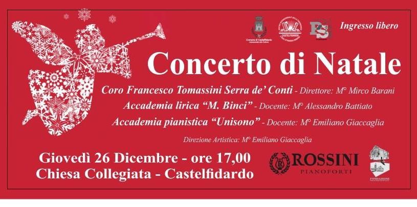 Concerto di Natale in Collegiata il giorno 26