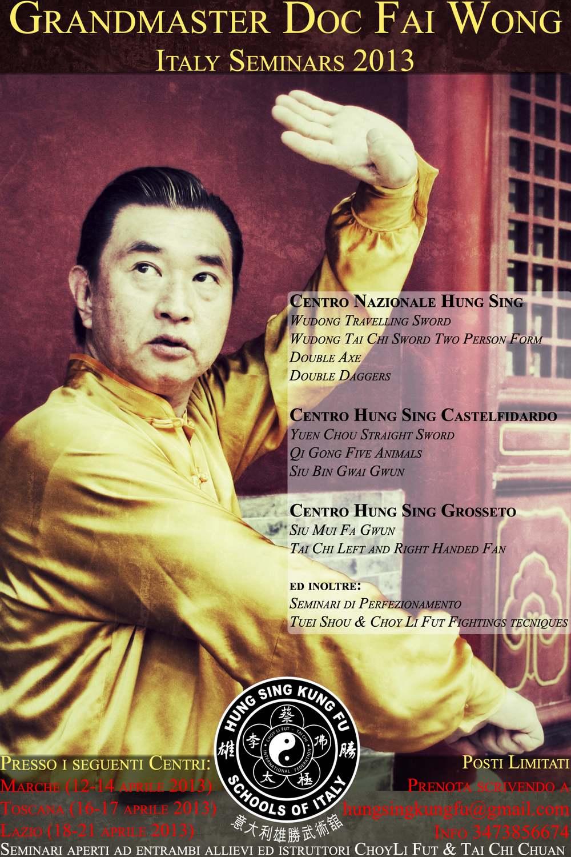Seminario con il granmaestro Doc Fai Wong