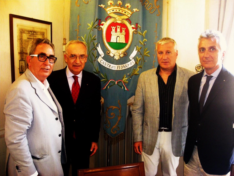 Il governatore del Rotary in visita a Castelfidardo