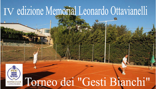 Torneo dei gesti bianchi al Tennis club