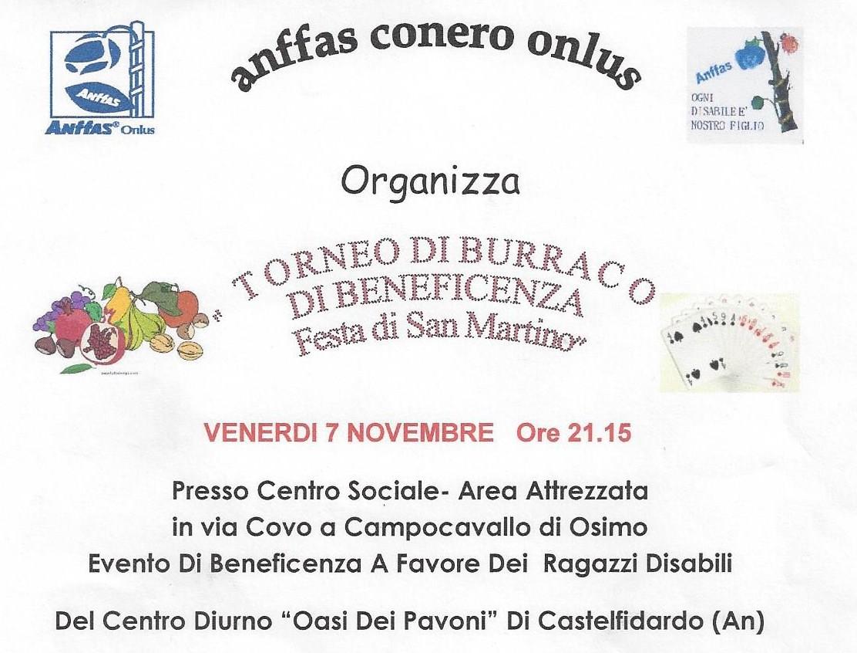 """Torneo di burraco """"festa di San Martino"""""""