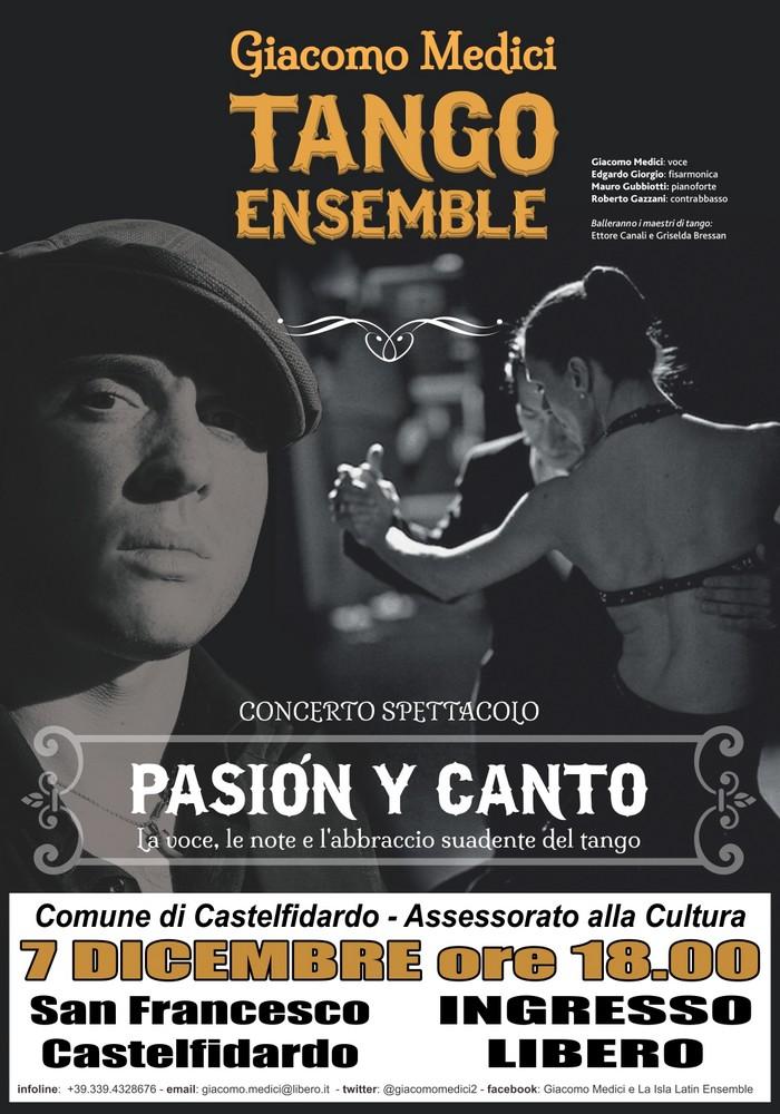 Passione e tango, Giacomo Medici il 7/12 in Auditorium
